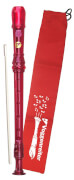 Voggys Kunststoff-Blockflöte (rot), barocke Griffweise