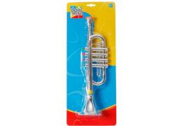Doremini Trompete, silber 4 Töne, Länge ca. 38 cm, Kinderinstrument, ca. 48x19x8,7 cm, ab 3 Jahren
