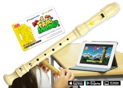 Flute Master (App) mit Blockflöte aus Kunststoff (bar. GW)