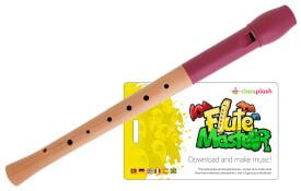 Flute Master (App) mit Holz-Kunststoff-Blockflöte (bar. GW)