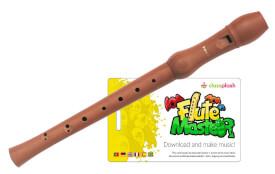 Flute Master (App) mit Blockflöte aus Bergahorn (bar. GW)