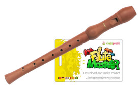 Flute Master (App) mit Blockflöte aus Bergahorn (dt. GW)