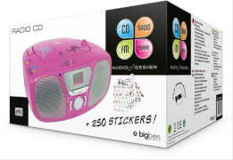 bigben Tragbares CD / Radio - Kids pink