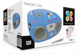 bigben Tragbares CD / Radio - Kids blau