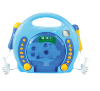 Karaoke CD Player MP3 2 Mikrofone boy/blau