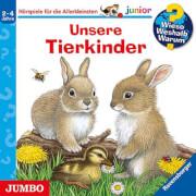 CD WIESO? WESHALB? WARUM? Junior Junior  Unsere Tierkinder, 1 Audio-CD