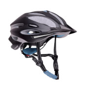 Hudora Fahrradhelm Granit, Gr. 55-58, schwarz/blau