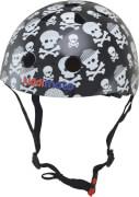 kiddimoto® Fahrrad Helm Skullz Pirat Gr. S (2-5 Jahre)