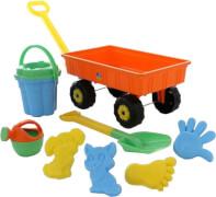 Outdoor active Handwagen mit Sandset, 8-teilig, Metallachse, Outdoorspielzeug, Packmaß ca. 56,4x37,7x32,9 cm, ab 12 Monaten