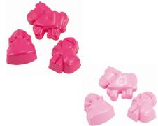 Spielstabil - 7417 Sandform rosa oder leuchtrot 1 Form Prinzessin, Ritter oder Pferd, Sandspielzeug, ca. 12,8x10x2,8 cm, ab 3 Ja
