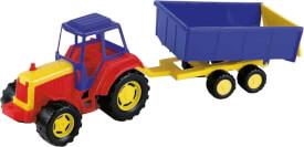 Sand Traktor mit Anhänger