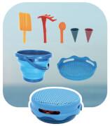 Schildkröt Funsports - 7 in 1 Falteimer blau und rosa