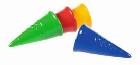 Spielstabil Eistüte classic, 4 Farben sortiert
