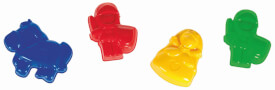 Spielstabil 7420 - Sandformen Burgbewohner, 4-Farben sortiert Ritter, Prinzessin, Pferd, Sandspielzeug, ab 3 Jahren (nicht frei