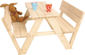 Kindersitzgarnitur 'Nicki für 4 mit Lehne'