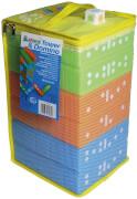 alldoro - Tower und Domino 2 in 1, Wackelturm und Domino Spielset, 30 Bausteine, 1 Würfel, in praktischer Aufbewahrungst