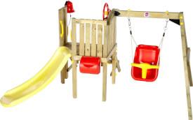 Plum® Kleinkinder Turm mit Babyschaukel