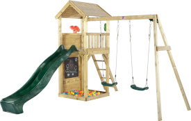 Plum® Holz Aussichtsturm mit Doppelschaukel
