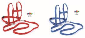 BLS SPORT Fit - Laufleine Nylon, sortiert, rot oder blau