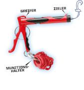 Gummiband Schleuder + Kuli - MicroBlaster