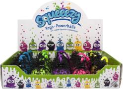 Trendhouse - SQUEEEZY Yoyo-Powerball, 5- fach sortiert, ca. 6x6,2x5,8 cm, ab 3 Jahren (nicht frei wählbar)