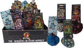 Glasmurmeln Serie Dragon sortiert