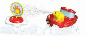BBJunior Splash ŽN Play ''FireBoat'' 15cm mit Spritze + Ziel