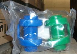 New Sports 2 Schutzkappen zur Netzbefestigung Trampolin