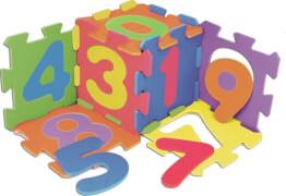 Outdoor active Puzzlematte mit Zahlen 10-teilig, 31,5 x 31,5 cm