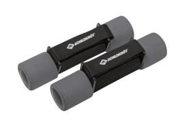 Schildkröt Fitness - SOFT HANTEL Set, 2x 1,0kg (black-gr), im Carrybag