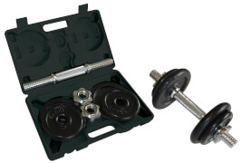 Schildkröt Fitness - KURZ-HANTELSET 10kg im ABS-Kunststoffkoffer