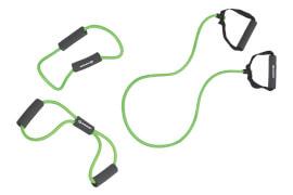 Schildkröt Fitness - EXPANDER SET (3 Expandertubes), (green-grey) in 4C Box