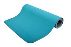 Schildkröt Fitness - BICOLOR YOGA MATTE 4mm (petrol-grey) im Carrybag