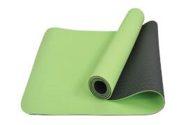 Schildkröt Fitness - TPE YOGA MATTE 4mm (Farbe: Lime-Anthrazit) + Carrying Wrap