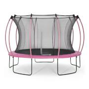Plum 366cm Colours Springsafe® Trampolin mit Sicherheitsnetz - Flamingo Pink/Tropic Türkis