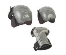 Hudora Biomechanisches Protektorenset, Gr. L, schwarz/grau