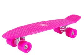 Hudora 12135 - Skateboard Retro, pink, ca. 57x15 cm, ab 6 Jahren