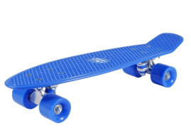 Hudora 12137 - Skateboard Retro Sky Blue, ca. 57x15 cm, ab 6 Jahren