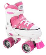Hudora Rollschuh Roller Skate, Größe 32 - 35, pink
