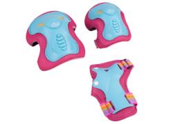 Hudora Protektorenset Skate Wonders, Gr. S, türkis/pink