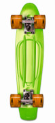 NoRules Skateboard fun, grün - transparent orange