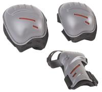 Hudora Biomechanisches Protektorenset, Gr. S, schwarz/grau