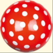 Die Spiegelburg 10175 Garden Kids - Spielball Fröhliche Tupfen, Durchmesser 22 cm