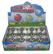 Glitzerball mit leuchtendem Fußball