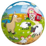 Buntball mit Bauernhof-Motiv, 23cm