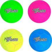 New Sports Fußball Neonfarben, Größe 5, 4-fach sortiert, unaufgeblasen