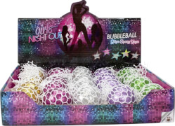 GIRLS NIGHT OUT Bubbleball Glitzer-Squeeze Yoyo # 48mm, 5-fach sortiert