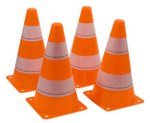 Schildkröt Funsports - PYLONEN (Set 4 Stück), orange
