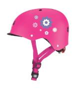 GLOBBER Helm Elite Lights XS/S, pink ''Flowers''