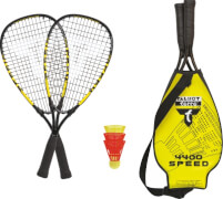 Talbot-Torro - Speedbadminton Set SPEED 4400 im 3/4 Bag black/yellow,